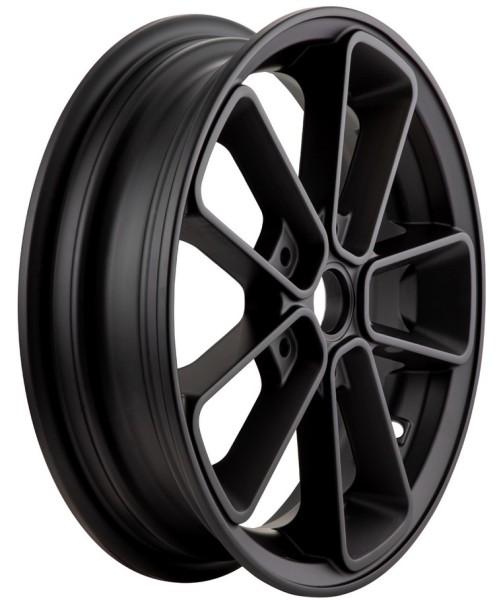 """Jante avant/arrière 12"""" pour Vespa GTS/GTS Super/GTV/GT 60/GT/GT L 125-300ccm, noir mat"""