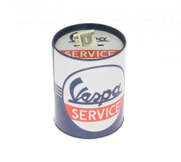 Vespa tirelire Vespa Service, fer-blanc