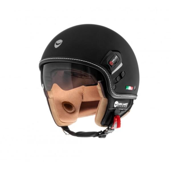 Jet Demi Jet Helmo Milano, Puro Premium, noir mat