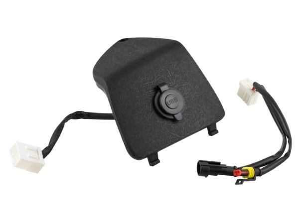 Capot de boite à gant gauche avec connexion USB pour Vespa GTS/GTS Super/GTV/GT, noir