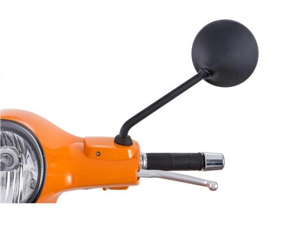 Rétroviseur pour Vespa LX/LXV/S/GTS/GTS Super/GTV/GT 60/GT/GT L 50-300ccm, noir mat, gauche