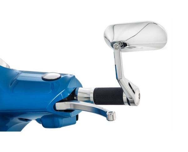 Rétroviseur d'extrémité du guidon AGILA pour Vespa, chrome, gauche ou droite