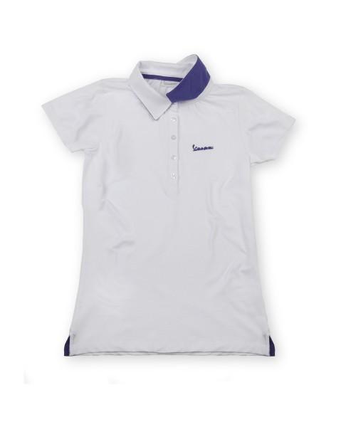 "Vespa Polo Shirt ""Vespa Logo"" femme blanc"