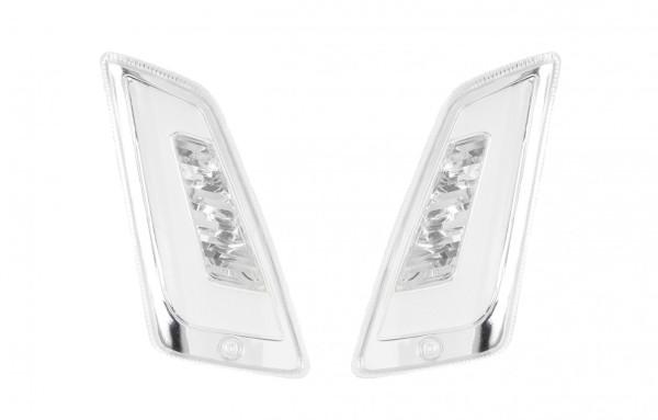 Jeu de clignotants LED pour Vespa GT, GTL, GTV, GTS 125-300 avant, teinté