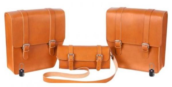 """Set de sacs en cuir """"Journey"""" pour WI-BIKE Original Piaggio"""