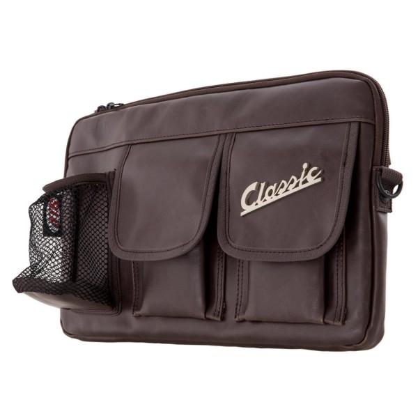 """Sac """"Classic"""" pour coffre à bagages / boîte à gants Vespa - marron, cuir synthétique"""