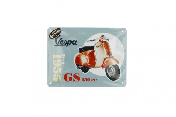 Vespa plaque métallique Vespa GS150 since 1955