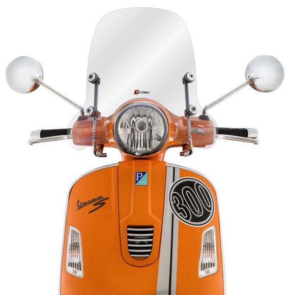 Pare-brise demi-haut pour Vespa GTS/GTS Super/GT/GT L 125-300ccm, clair