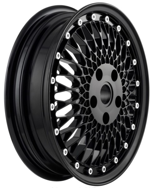 Jante Comb 1 avant/arrière pour Vespa GTS/GTS Super/GTV/GT 60/GT/GT L/946 125-300ccm, noir brillant