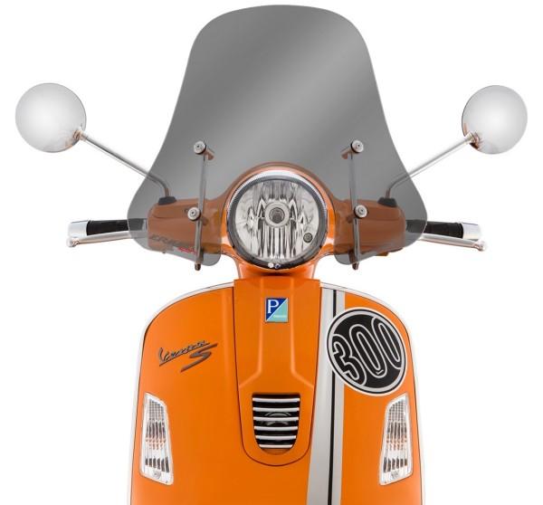 Pare-brise Sportivo pour Vespa GTS/GTS Super/GT/GT L 125-300ccm, demi-haut, fumé