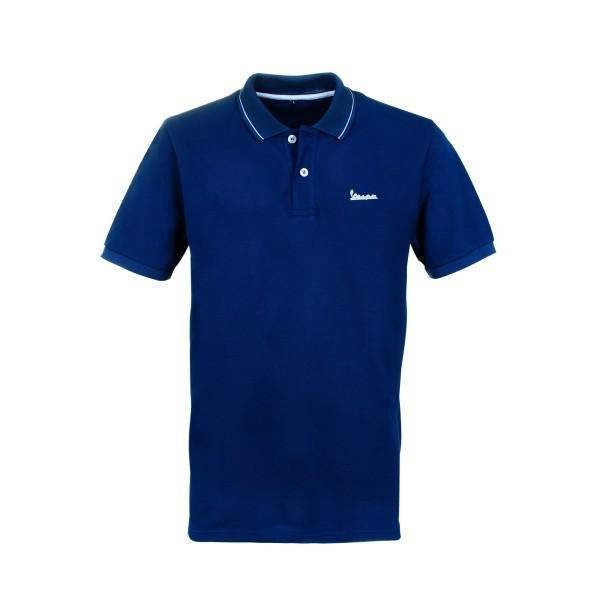 Vespa Graphic Polo homme bleu