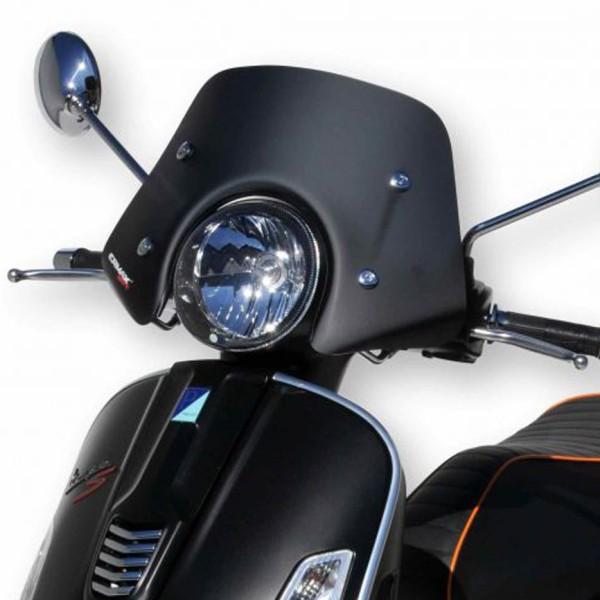 Pare-brise Piccolo pour Vespa GTS/GTS Super/GT/GT L 125-300ccm, noir mat