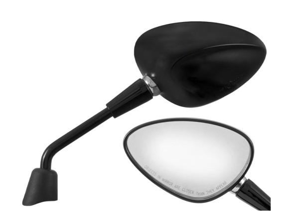 Miroir Shorty noir droit et gauche pour Vespa Sprint 50-150ccm 2T / 4T