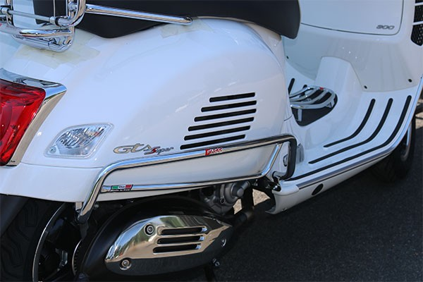 Barre de choc pour panneau latéral, arrière pour Vespa GTS 300ccm HPE ('19-), noir mat