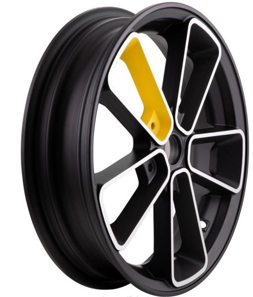 Jante avant/arrière pour Vespa GTS/GTS Super/GTV/GT 60/GT/GT L 125-300ccm, noir/jaune