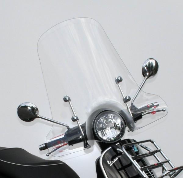 Pare-brise haut pour Vespa GTS/GTS Super/GT/GT L 125-300ccm, clair