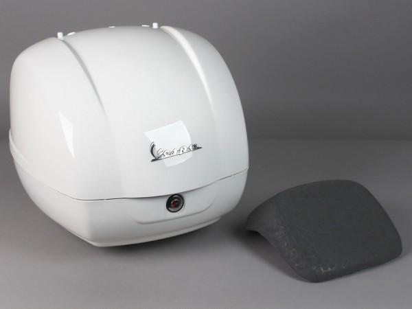 Original Top-case 36L Vespa GTS blanc Monte 544 (jusqu'en 2014)