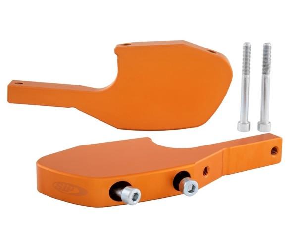 Adaptateur repose pieds passager pour Vespa GTS/GTS Super/GTV/GT 60/GT/GT L 125-300ccm, orange mat
