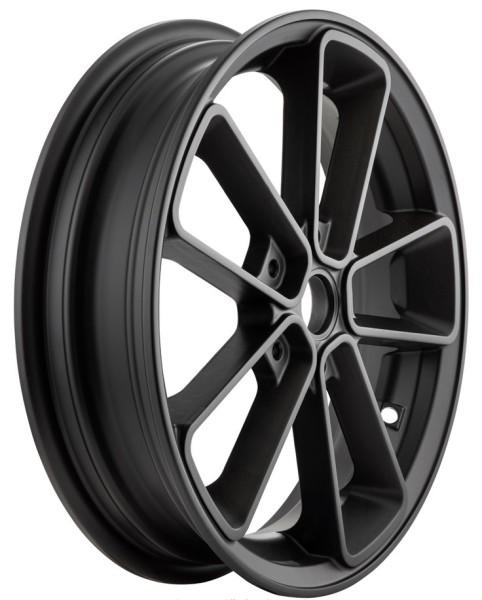 """Jante avant/arrière 13"""" pour Vespa GTS/GTS Super/GTV/GT 60/GT/GT L 125-300ccm, noir mat"""