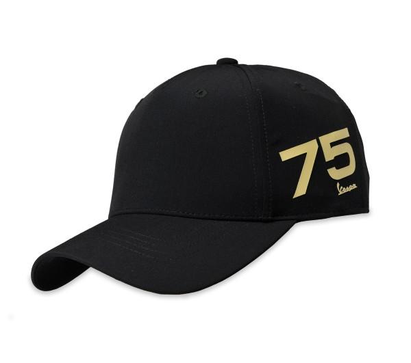 Casquette Vespa 75 ans - noir