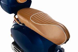 Luxury Line - cuir véritable Sitzbank pour Vespa Primavera