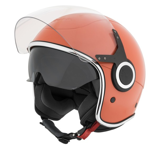 Casque Demi Jet Vespa VJ orange Vignola 889/A