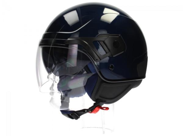 Piaggio casque PJ Jet bleu
