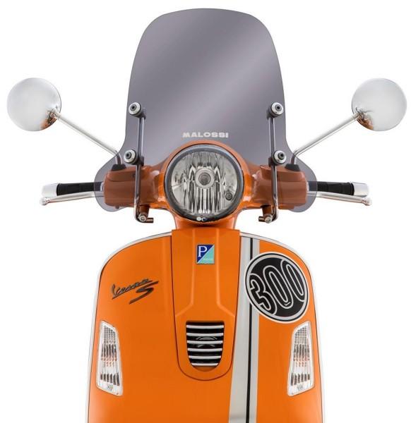 Pare-brise Sport Screen pour Vespa GTS/GTS Super/GT/GT L 125-300ccm, demi-haut, fumé
