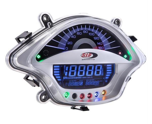 Compte-tours/Compteur de vitesse pour Vespa GTS/GTS Super 300ccm FL ('14-), argent