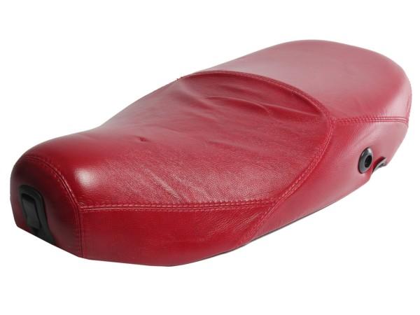 Selle Vespa cuir véritable rouge pour LX 50-150cc Touring, ET2 / ET4 / LX / LXV / S 50-150cc-