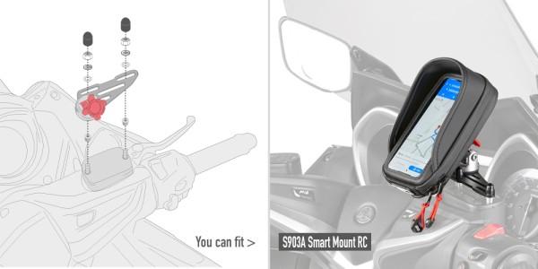 Kit de montage pour le support S903A pour réservoir de liquide de frein sur guidon Original Givi