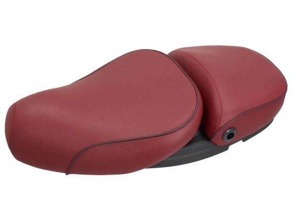 Selle Vespa 2 places en cuir véritable rouge pour LX 50-150cc Touring, ET2 / ET4 / LX / LXV / S 50-150cc-