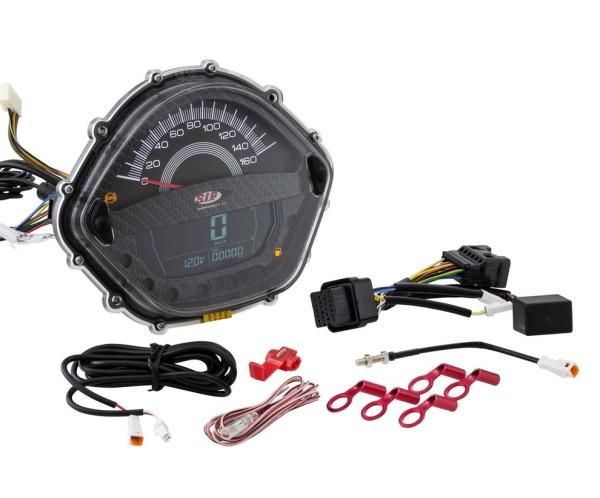 Compte-tours/Compteur de vitesse pour Vespa GTS 250ccm (-'13), carbone