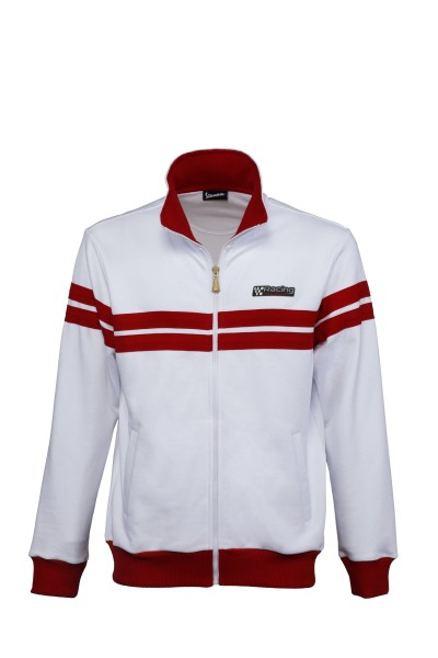 Veste sweat Vespa Racing Sixties 60s blanc / rouge