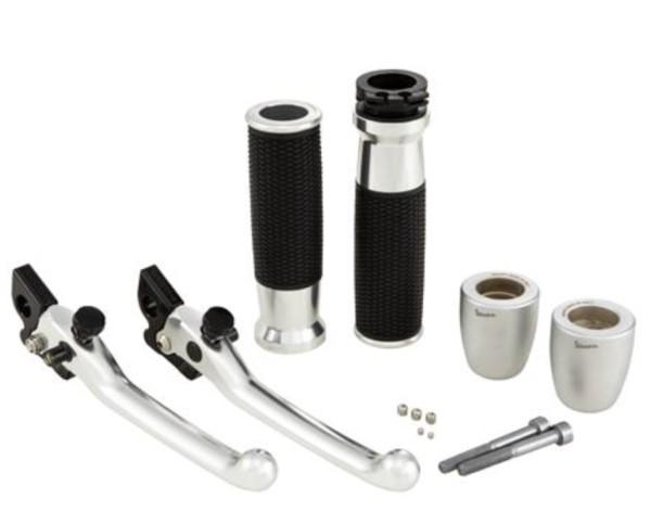Kit de guidon, aluminium anodisé, jeu de poignées, leviers et extrémités de poignées Vespa GTS 2008 - 2019