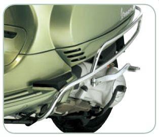 Original Protection latérale arrière chromée Vespa LX / LXV