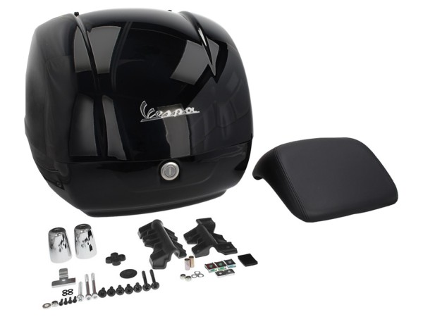Original Top-case Vespa GTS Super noir brillant 094