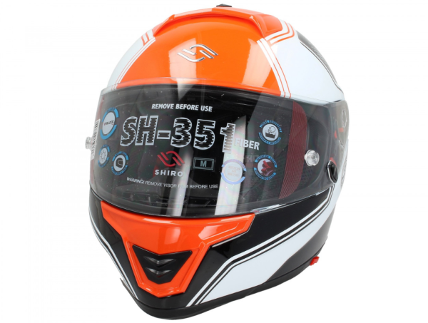 Shiro Casque Integral, SH351, Fiber, F4, orange