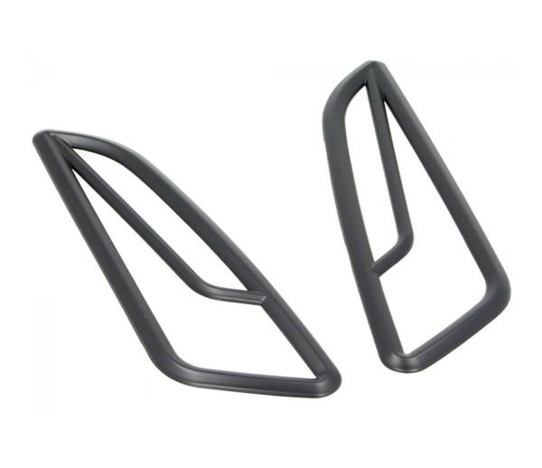 Grille de clignotant avant, noire, pour Vespa Primavera / Sprint 50-150