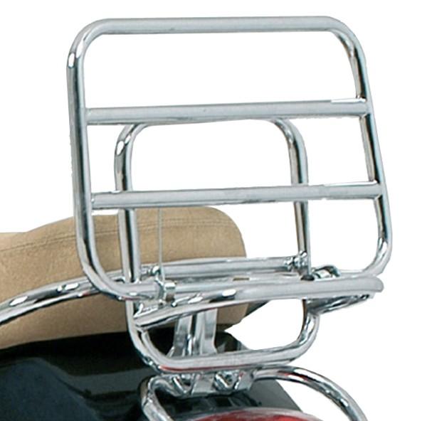 Original Porte-bagage arrière rabattable chromé Vespa LX / S