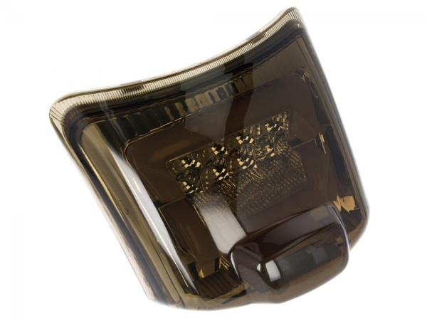 Feu arrière LED noir, homologué E pour Vespa GTS / GTV (jusqu'en 2014)