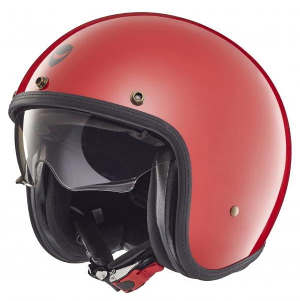 Helmo Milano casque jet, Audace, rouge