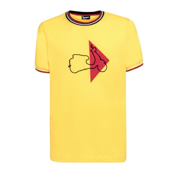 Vespa T-Shirt Modernist homme jaune