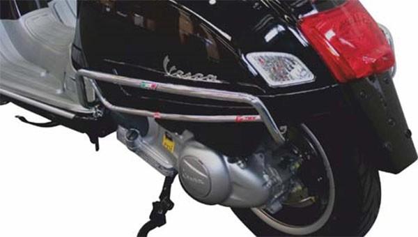 Barre de choc pour panneau latéral, arrière pour Vespa GTS/GTS Super 125-300ccm, chrome