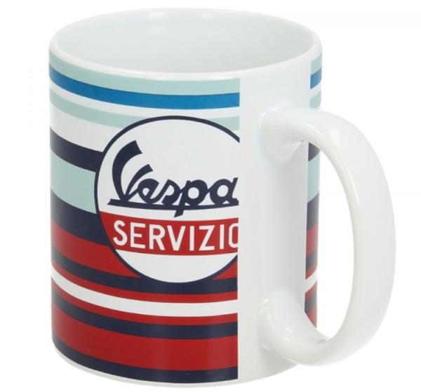 Vespa tasse Servizio rouge bleu