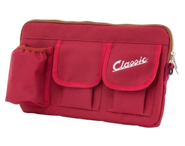 """Sacoche """"Classic"""" pour coffre à bagages / boîte à gants Vespa - rouge, nylon"""